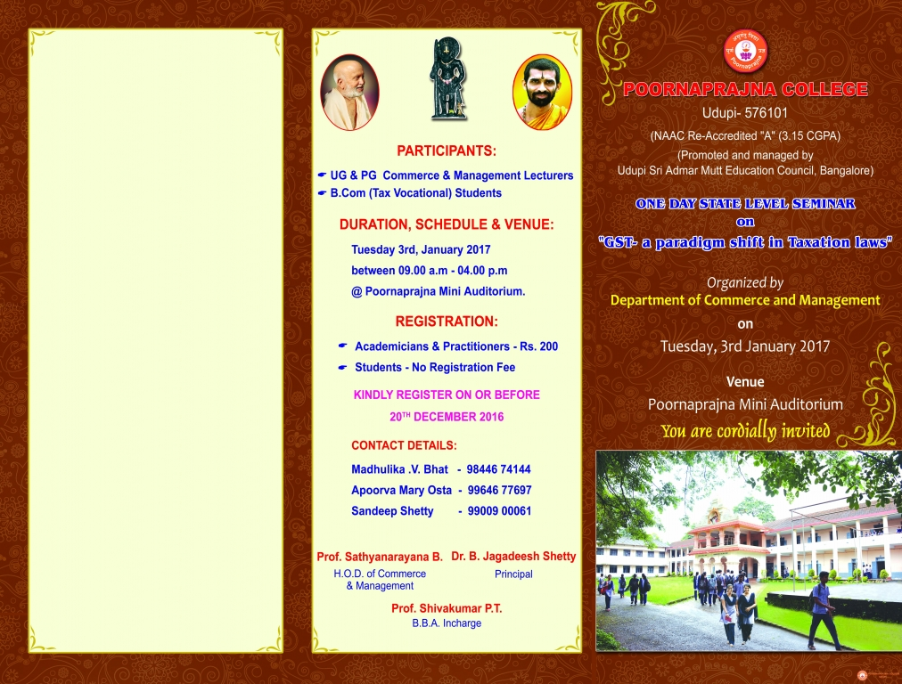 ONE DAY STATE LEVEL SEMINAR